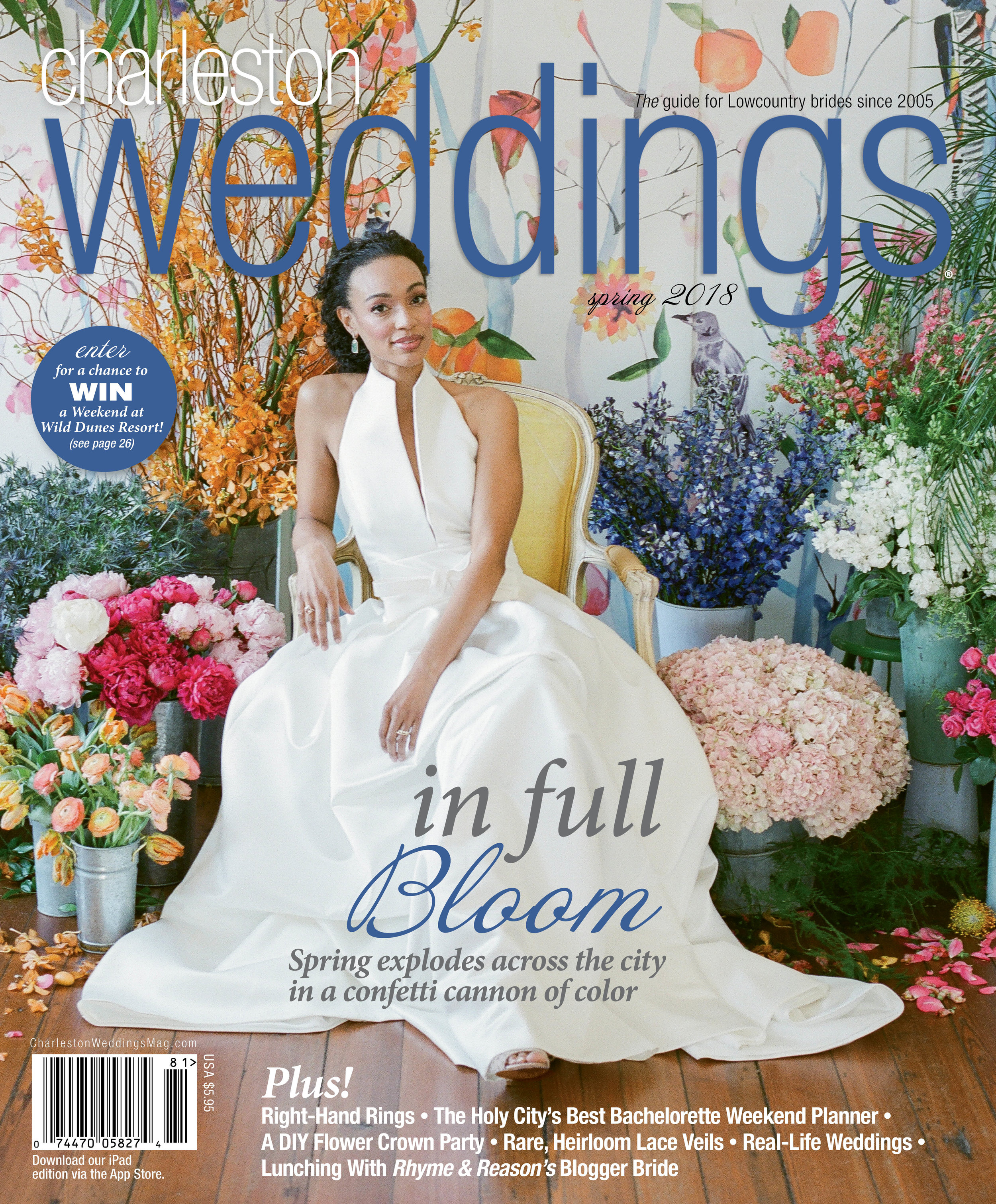 Featured in Charleston Weddings - Spring 2018