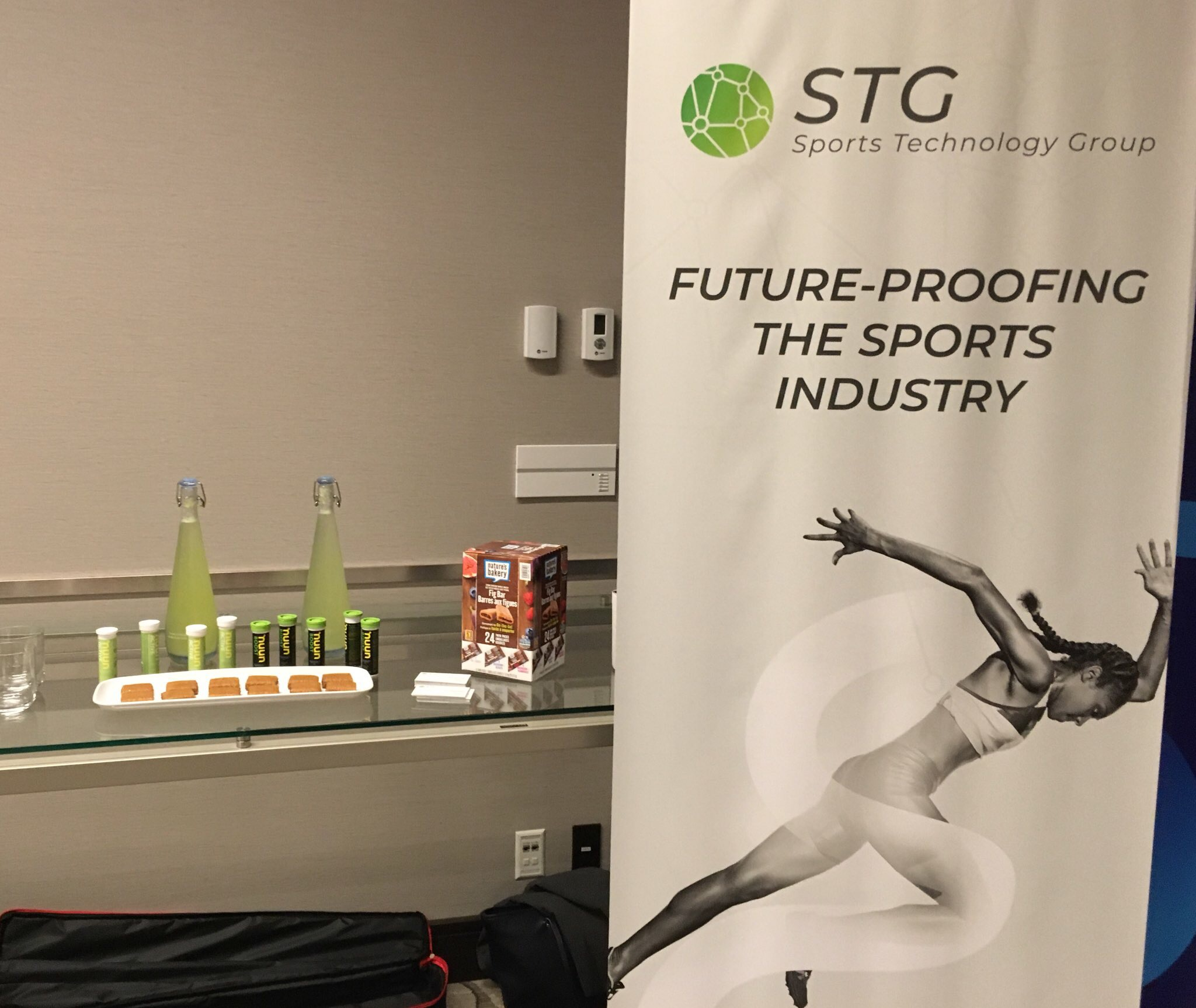 STG's booth in the speakers lounge supplying extra energy for the speakers!