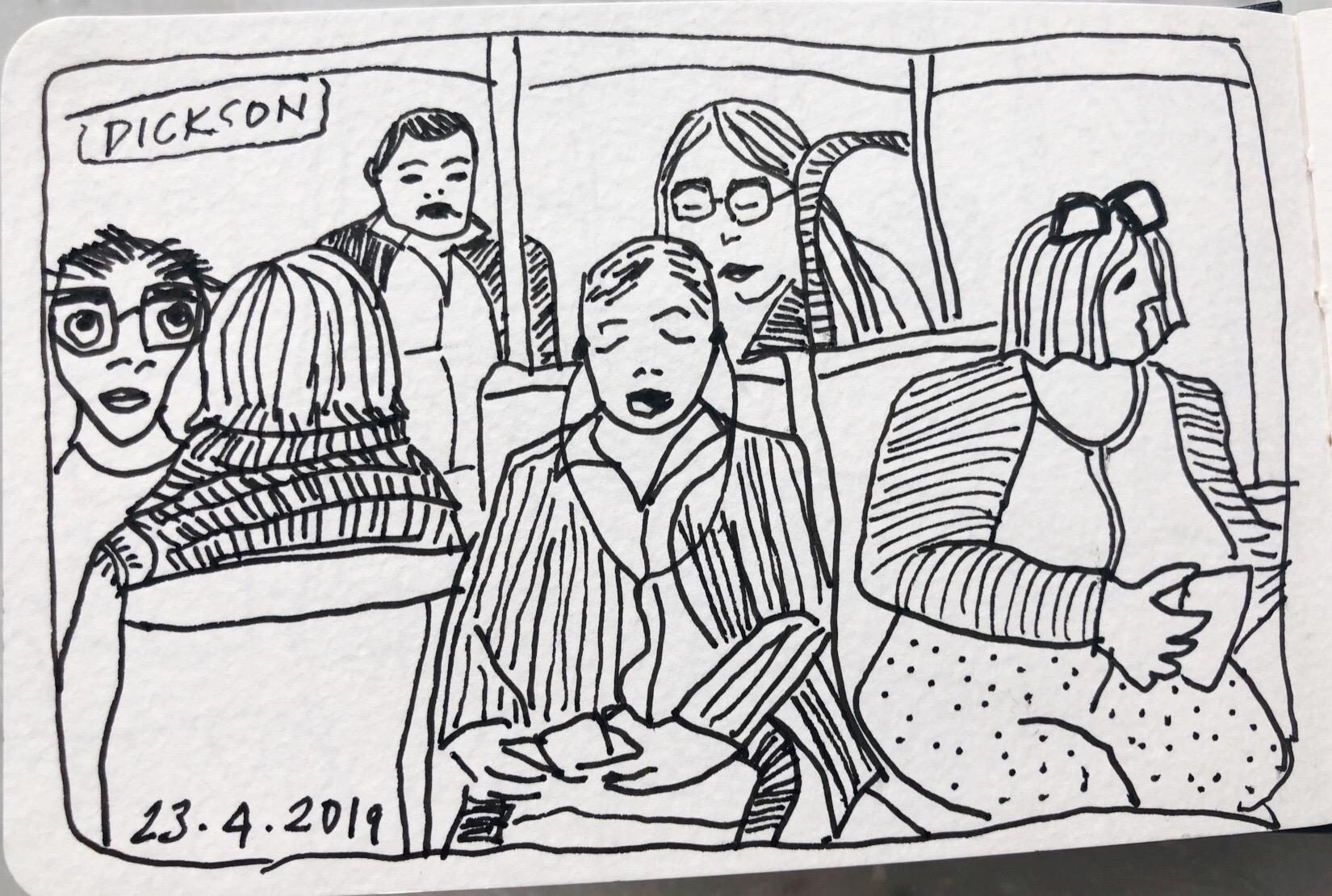 Tram travellers 23 April 2019