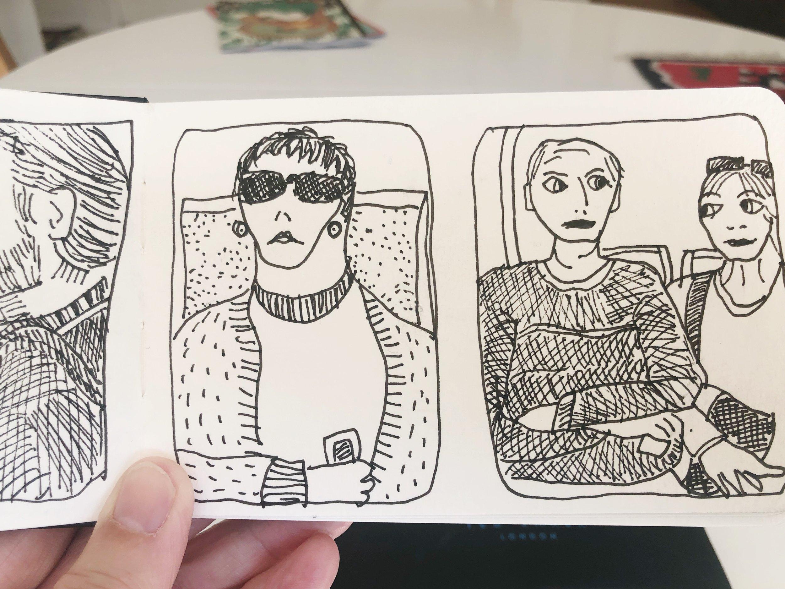 Tram travellers, 27 April 2019