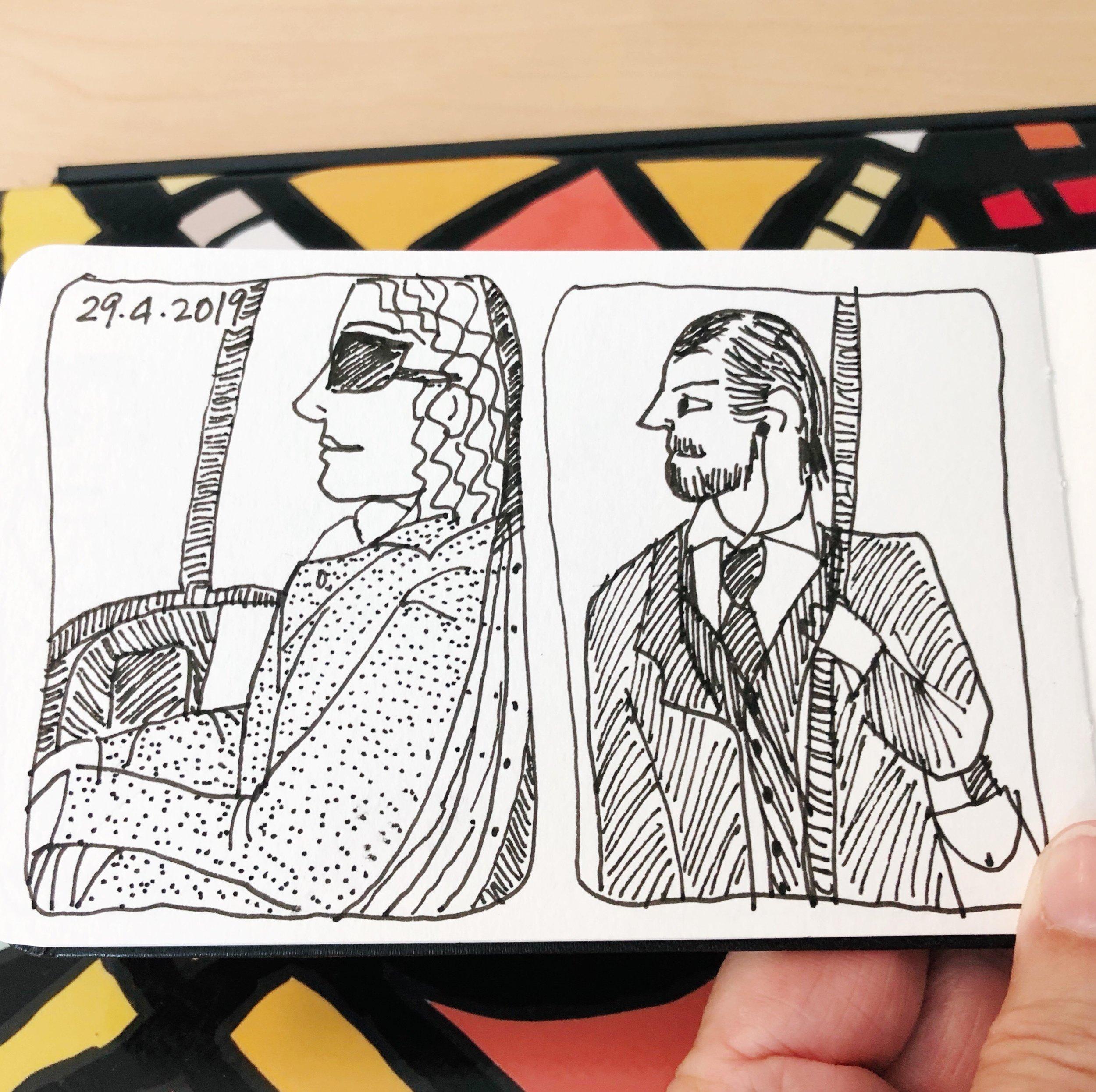 Tram travellers, 29 April 2019