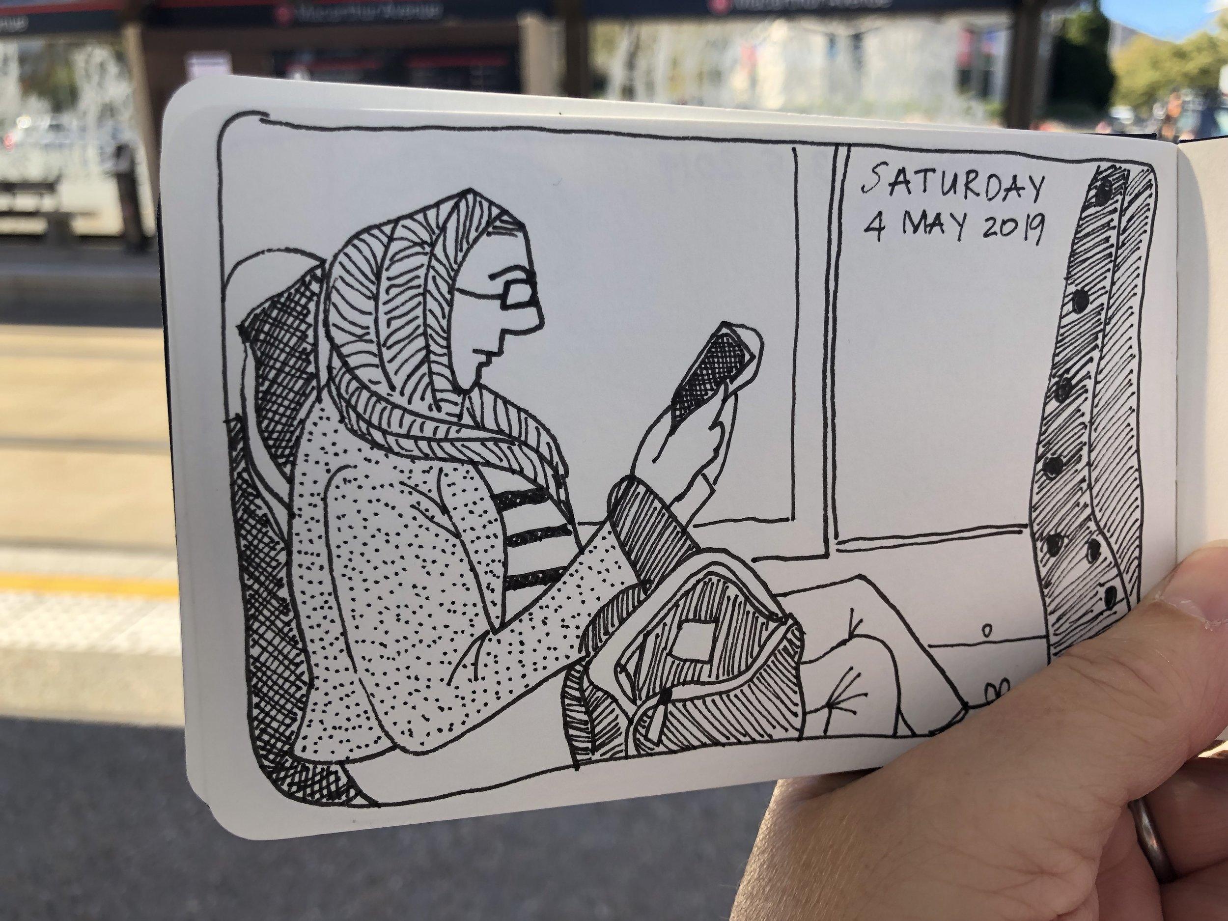Tram traveller, 4 May 2019