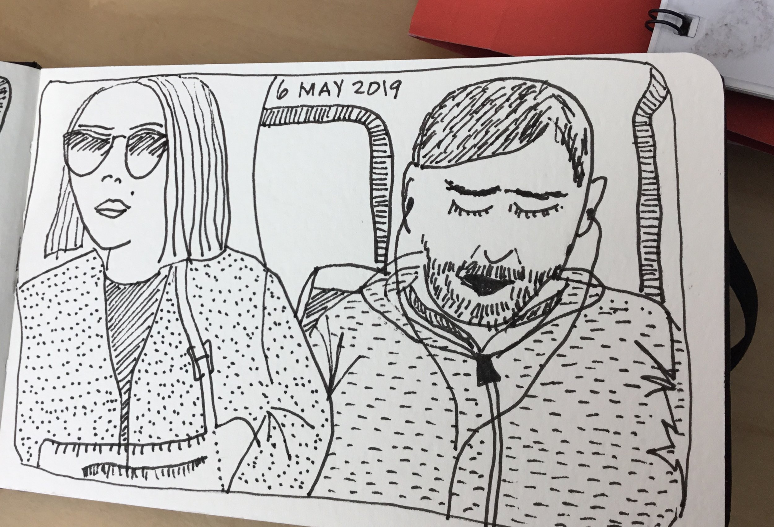 Tram travellers, 6 May 2019