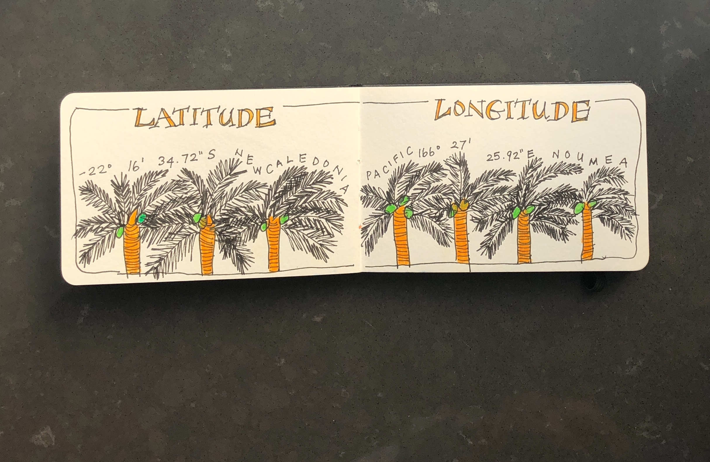Noumea: longitude and latitude