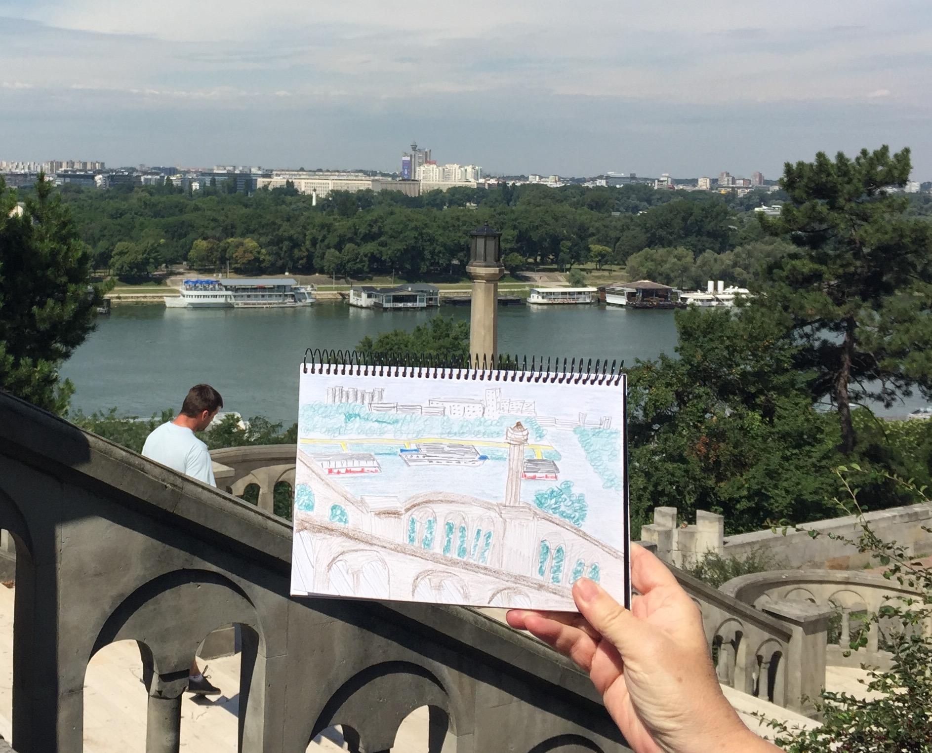 Overlooking the Sava River, Belgrade