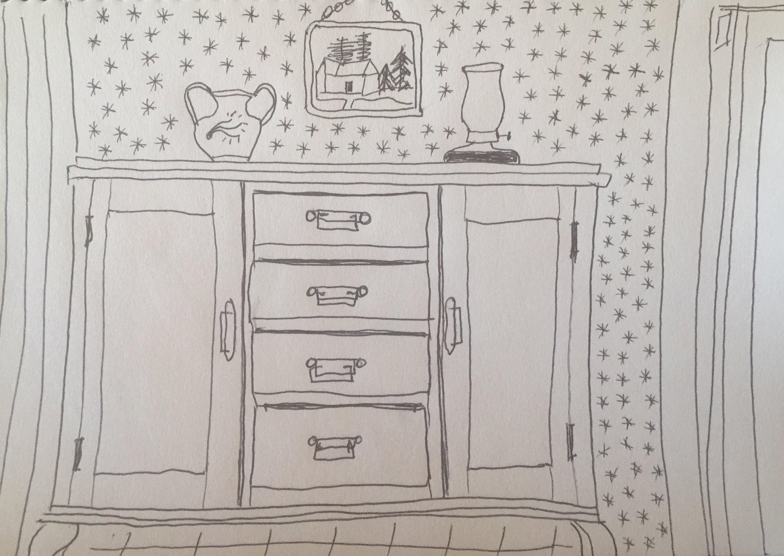 Tivat: hallway dresser