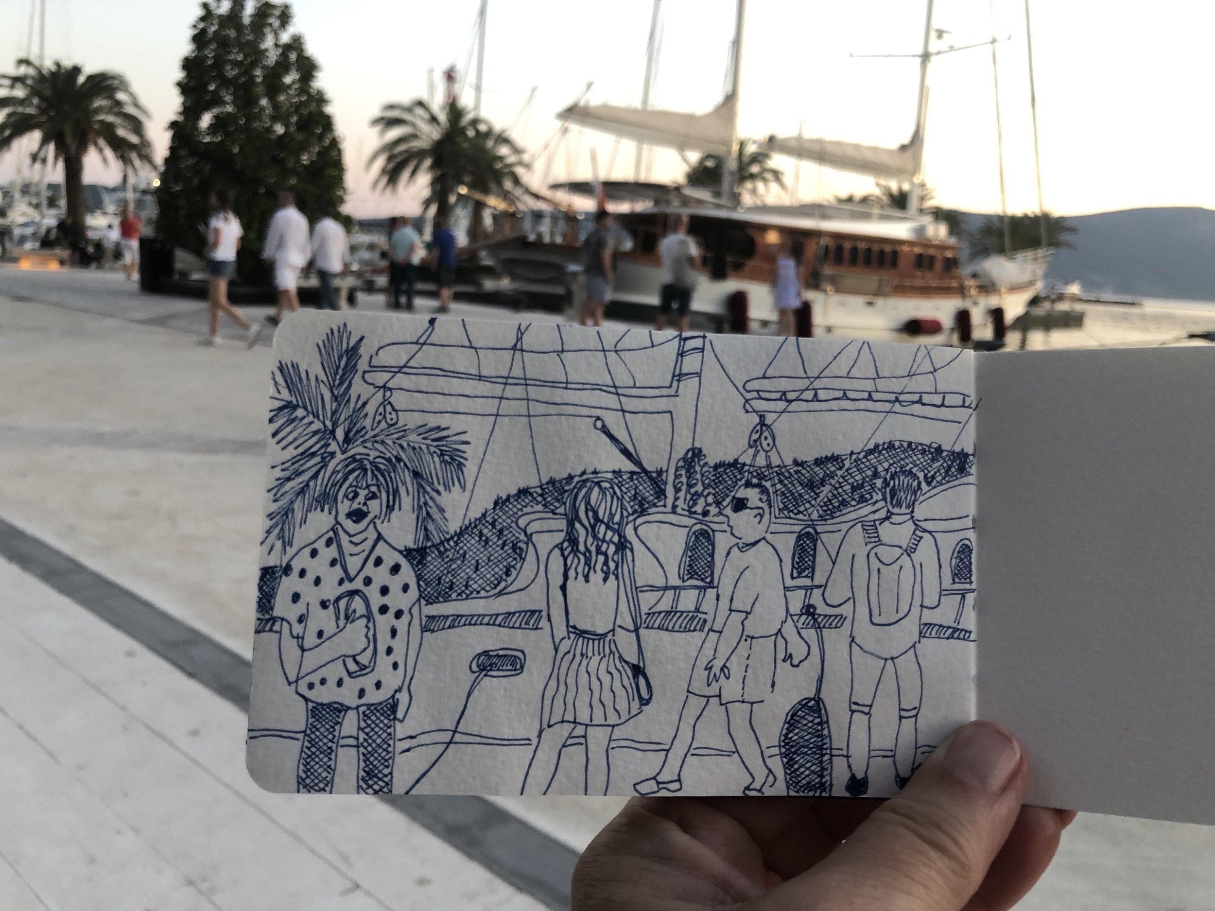 Porto Montenegro passing parade