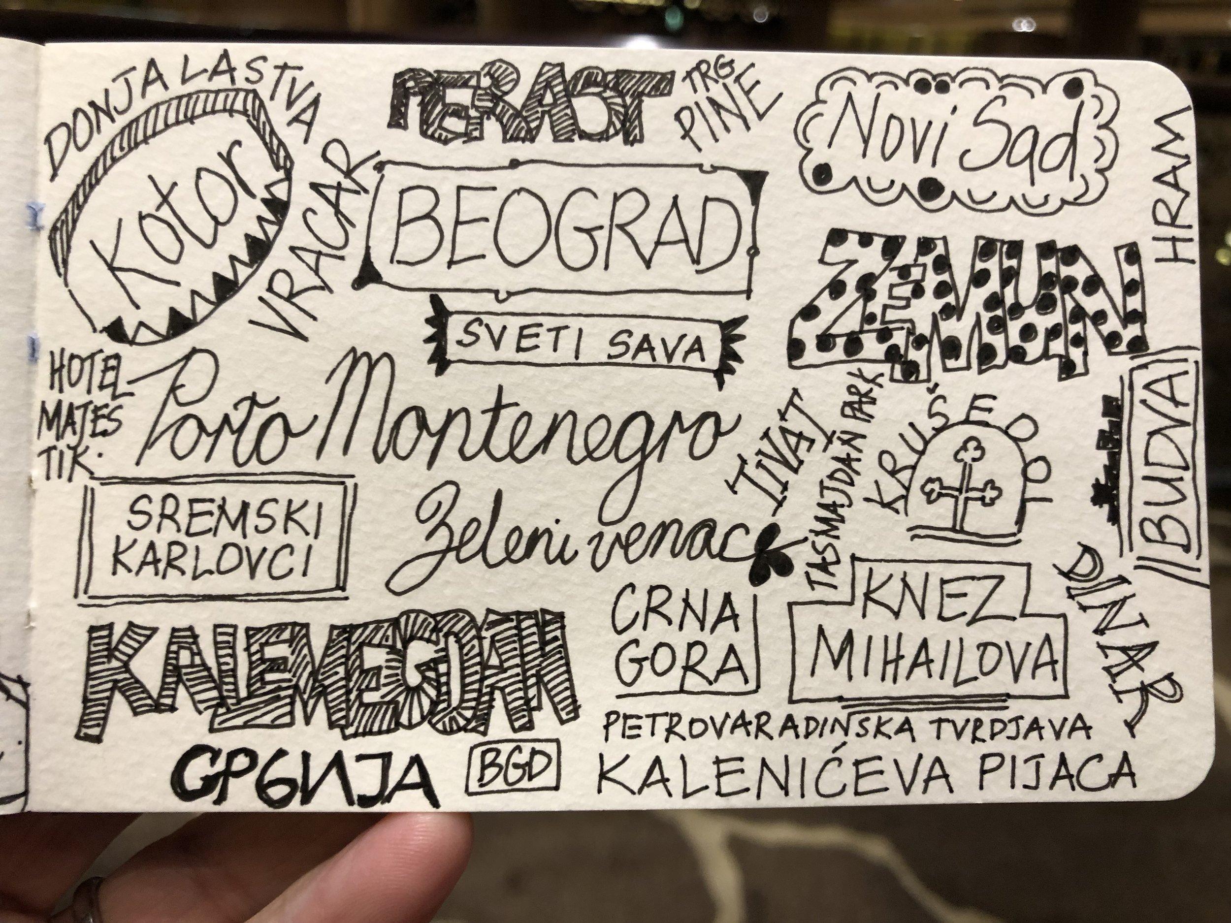 Belgrade and Montenegro: names and words