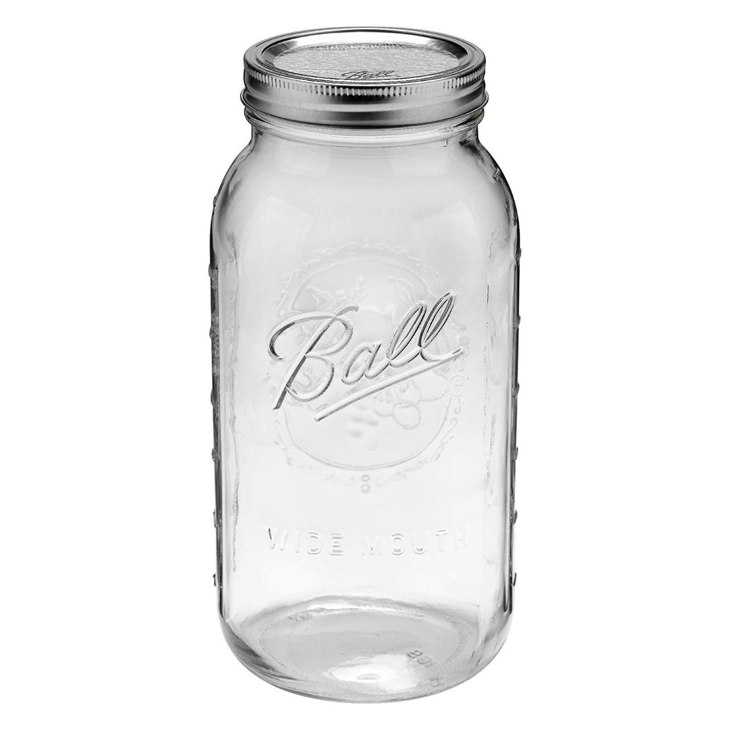 2 Liter Glass Mason Jar