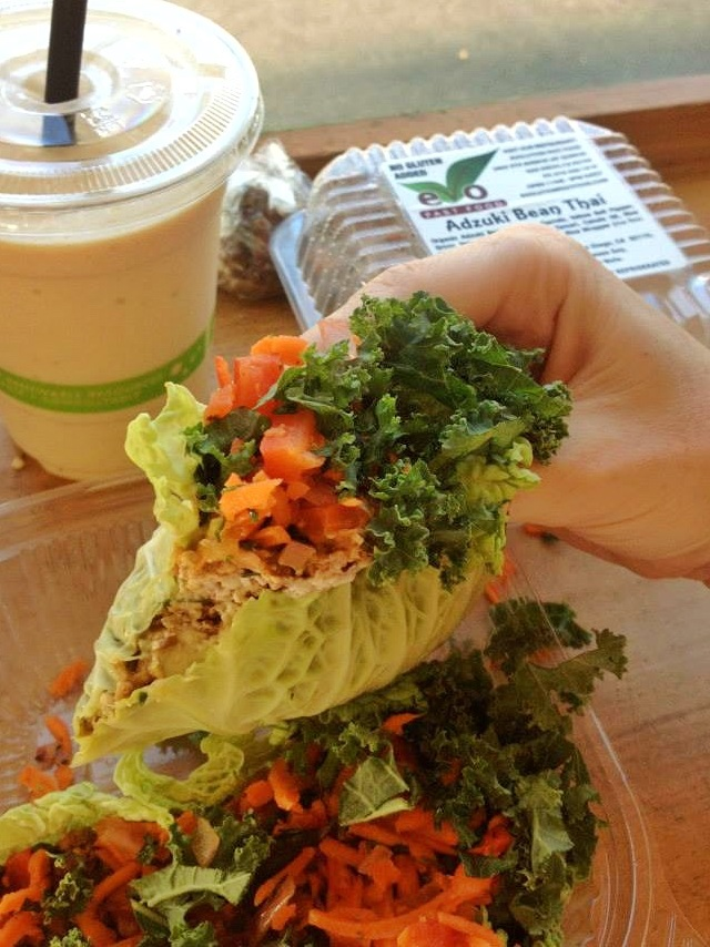 💚 Evolution Fast Food - This was San Diego's very first vegan drive through. They offer everything from burgers and fries, to smoothies, to raw vegan take aways like these raw tacos. I used to get the raw tacos every Friday after moving here. Roll on up to Evolution Fast Food next time you're in the Balboa Park area!