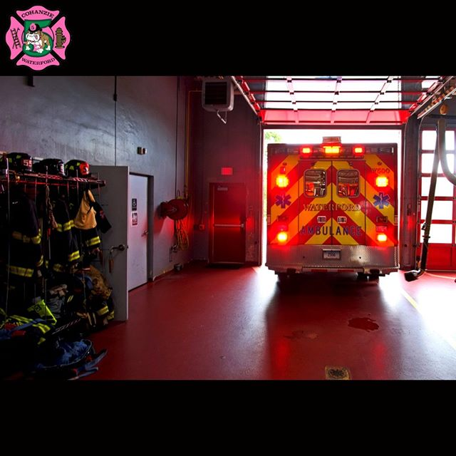 The #Cohanzie #FireCompany's #Ambulance, W500, departs its bay in the #FireStation, enroute an #EMS call, shortly before 12:15pm, in #WaterfordCT, #CT. www.cohanziefireco.org  #FD #VolunteerFirefighter #JobTown #Firefighting #Firefighter #Firefighters #FireDepartment #FullyInvolved #FireDept #Fireman #FireTruck #VolunteerFireDepartment #FullyInvolved #ThinRedLine #EMS #NLCT #Connecticut