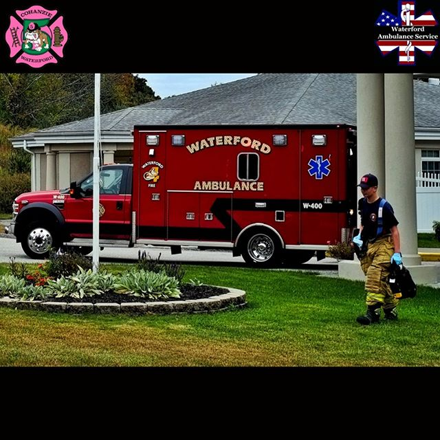 #JuniorFirefighter Jake Darras, of the #Cohanzie #FireCompany, carries medical supplies past the #Oswegatchie Fire Company's #Ambulance, W400, while assisting #Firefighter - #EMT personnel on the scene of an #EMS call, on Greentree Drive, in #WaterfordCT, #CT. www.cohanziefireco.org  #FD #VolunteerFirefighter #JobTown #Firefighting #Firefighter #Firefighters #FireDepartment #FullyInvolved #FireDept #Fireman #FireTruck #VolunteerFireDepartment #FullyInvolved #ThinRedLine #EMS #NLCT #Connecticut