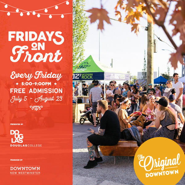 Quinn Pickering,Fridays On Front, Friday July 19th. - We'll be playing 2 sets, 1st 5:30pm, 2nd 7:00pm - Front St and Mckenzie, Downtown New Westminster.
