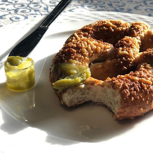 Try #cannaghee on a pretzel! 🥨🍯#nationalpretzelday #pdxeats #pdxfood #cannabutter #portlandoven #pretzels #pretzelday