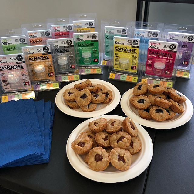 Stop by @exhalepdx today for some great deals on #cannaghee and enjoy some of our complimentary fresh baked cookies while you shop! #exhalepdx #pdxeats #edibles #cannacooking #lovecookies #sativa #indica #ghee #cooking #portlandoven
