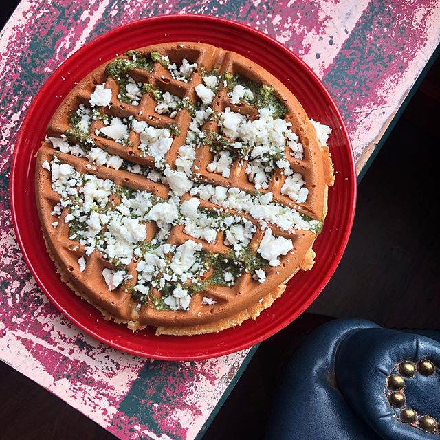 Happy National Waffle Day! Try out our awesome Cannaghee Pesto & Feta Cheese combination! www.portlandoven.com #nationalwaffleday #nationalwaffleday2019 #waffleweek #cannaghee #cannacooking #sativa #indica #pdxfood #pdx #portland #portlandoven #thc #pesto #fetacheese