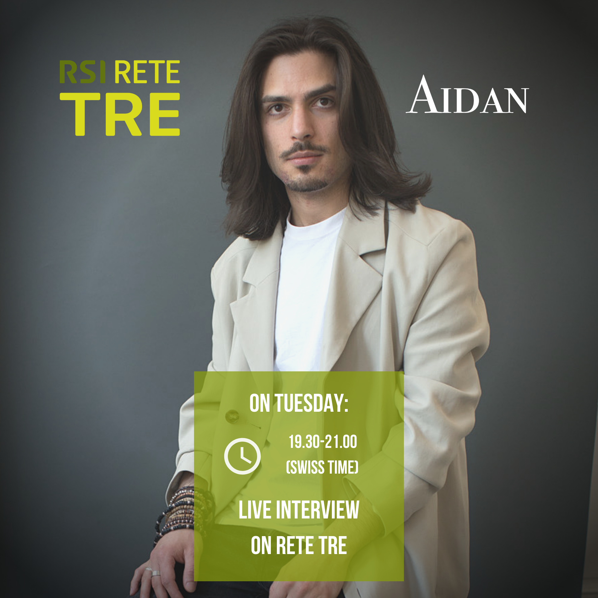 Live interview on Swiss Radio Rete Tre - On Tuesday, at 7.30pm Swiss Time, special live interview with the friends of the swiss italian radio RETE TRE! Tune in!