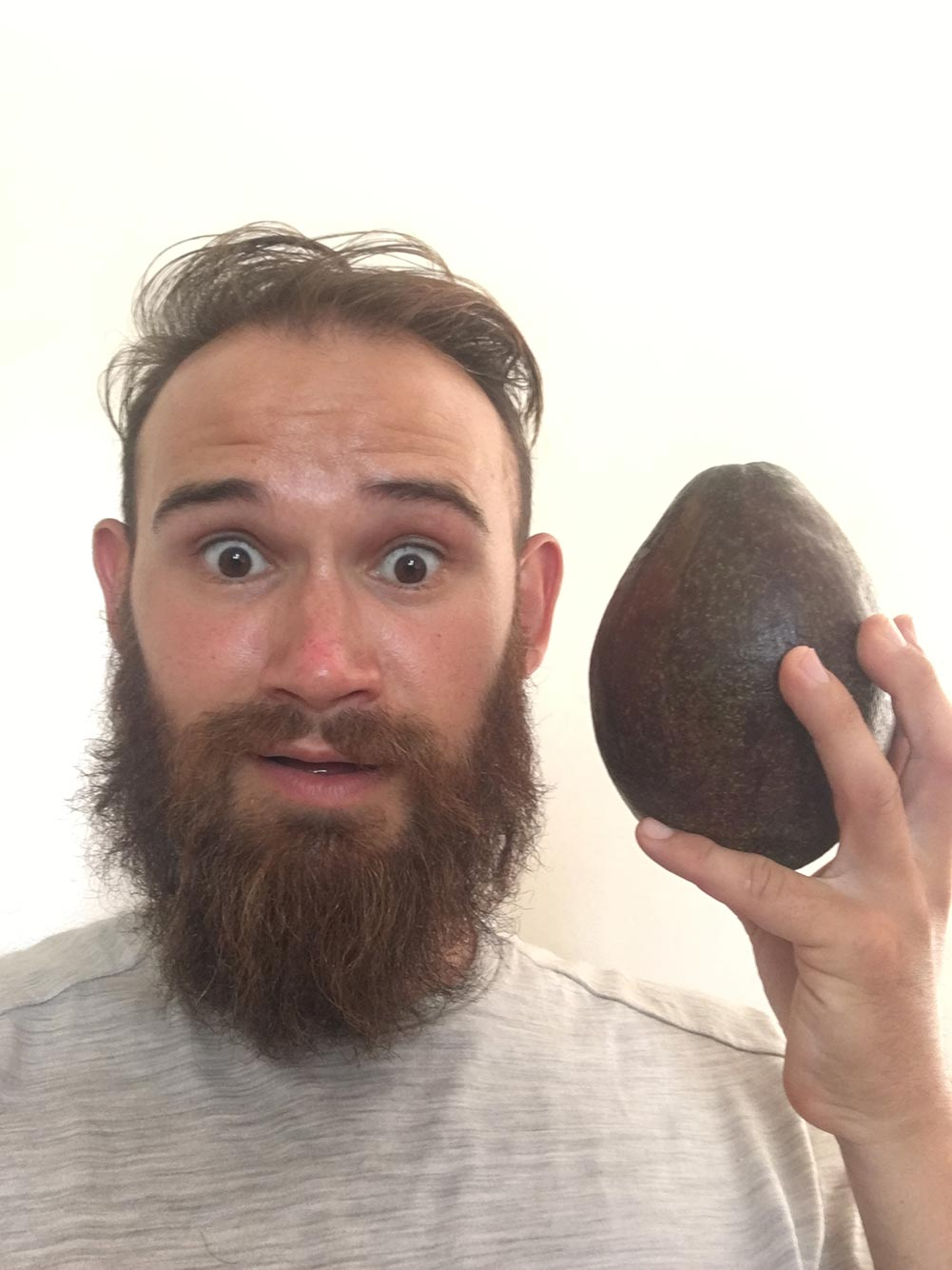 Did I mention the avocados are as big as Dan's head (minus his beard).