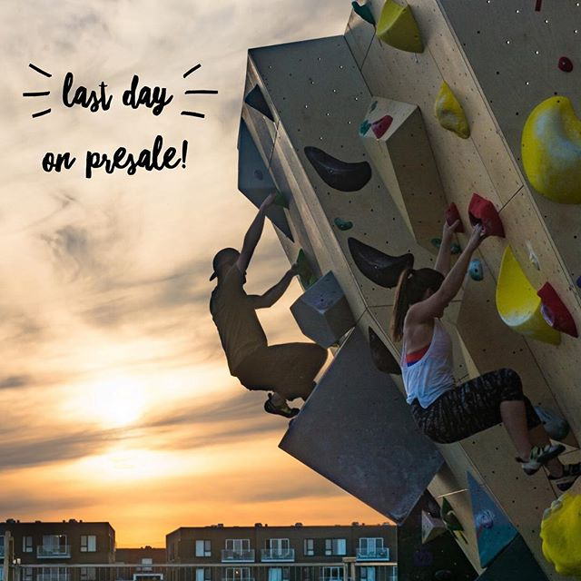 Dernière journée pour profiter de la prévente tout l'monde! On a très hâte de grimper avec vous en plein air! Ca s'en vient vite! ☀️ // Last day to enjoy the presale people! Can't wait to climb outdoors with all of you so so soon!!! 🤘🏽#openingsoon #outdoors #bouldering #goodvibes #nomadbloc #climbing #chillin #montreal #summer #sunset #cantwait