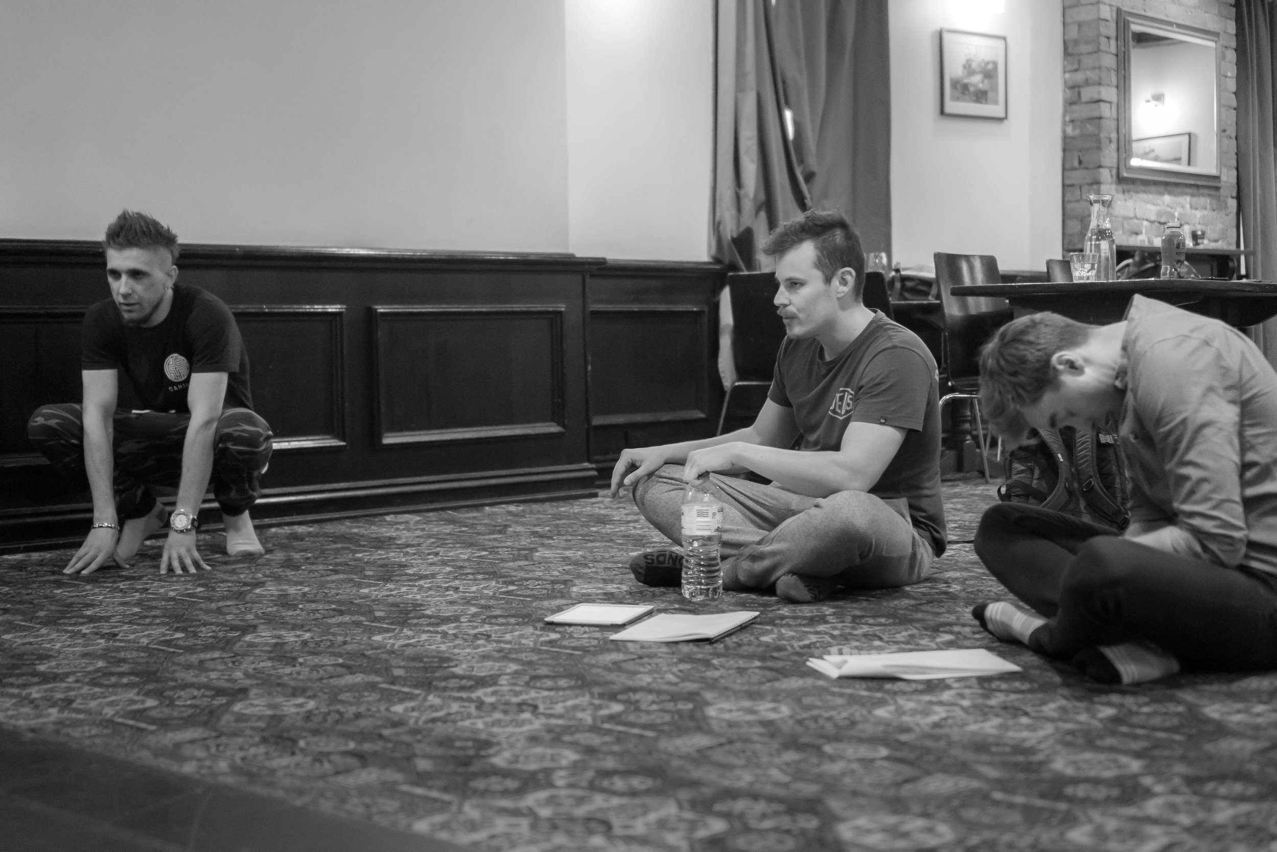 Creative Director of M2M - Adam Marsh (center) working as the Director/Co-Writer in the 2nd episode rehearsals of Pilot TV Production -  That's What The Boys Are For