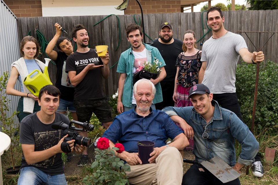 The great crew that I worked with for my short film Garden Variety (2017)