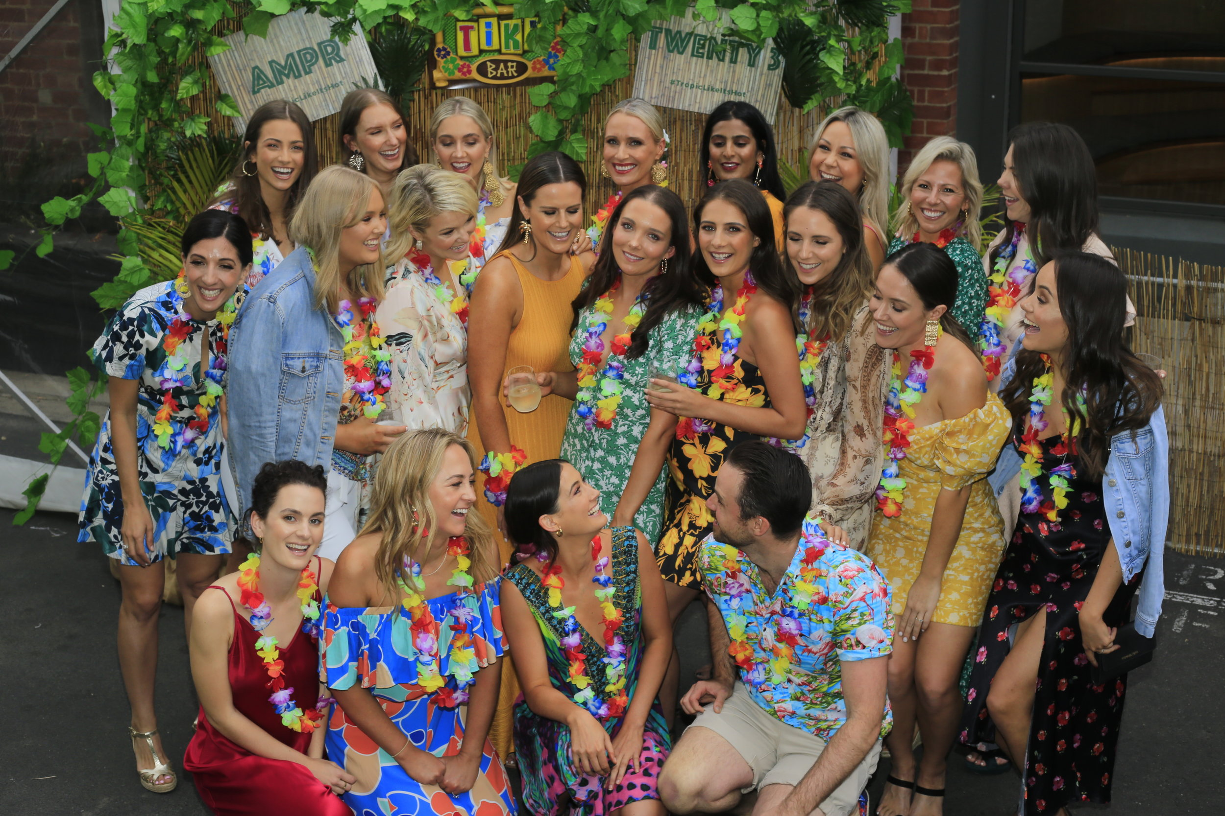 Hawaiian Themed Work Function Photos in Melbourne