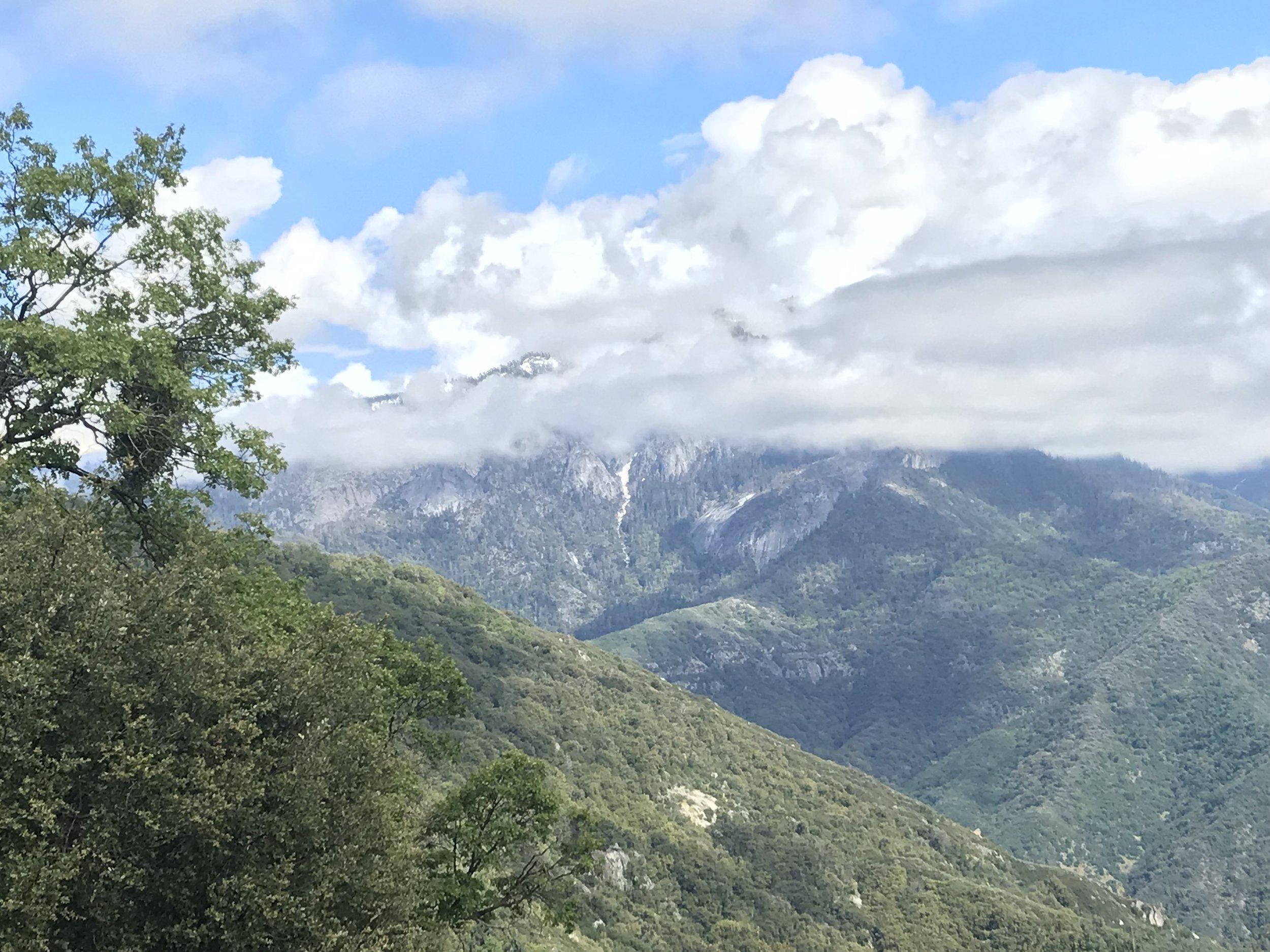 Mountains near Sequoia National Park