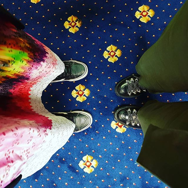 We had a nice event last night for @ayewriteglasgow in the fantastic labyrinthine Mitchell Library. Highly recommended for the million plus books and authentic parfum de bibliothèque of the stacks. And this carpet.  #librarylove #libraries #glasgow #saveourlibraries #carpet