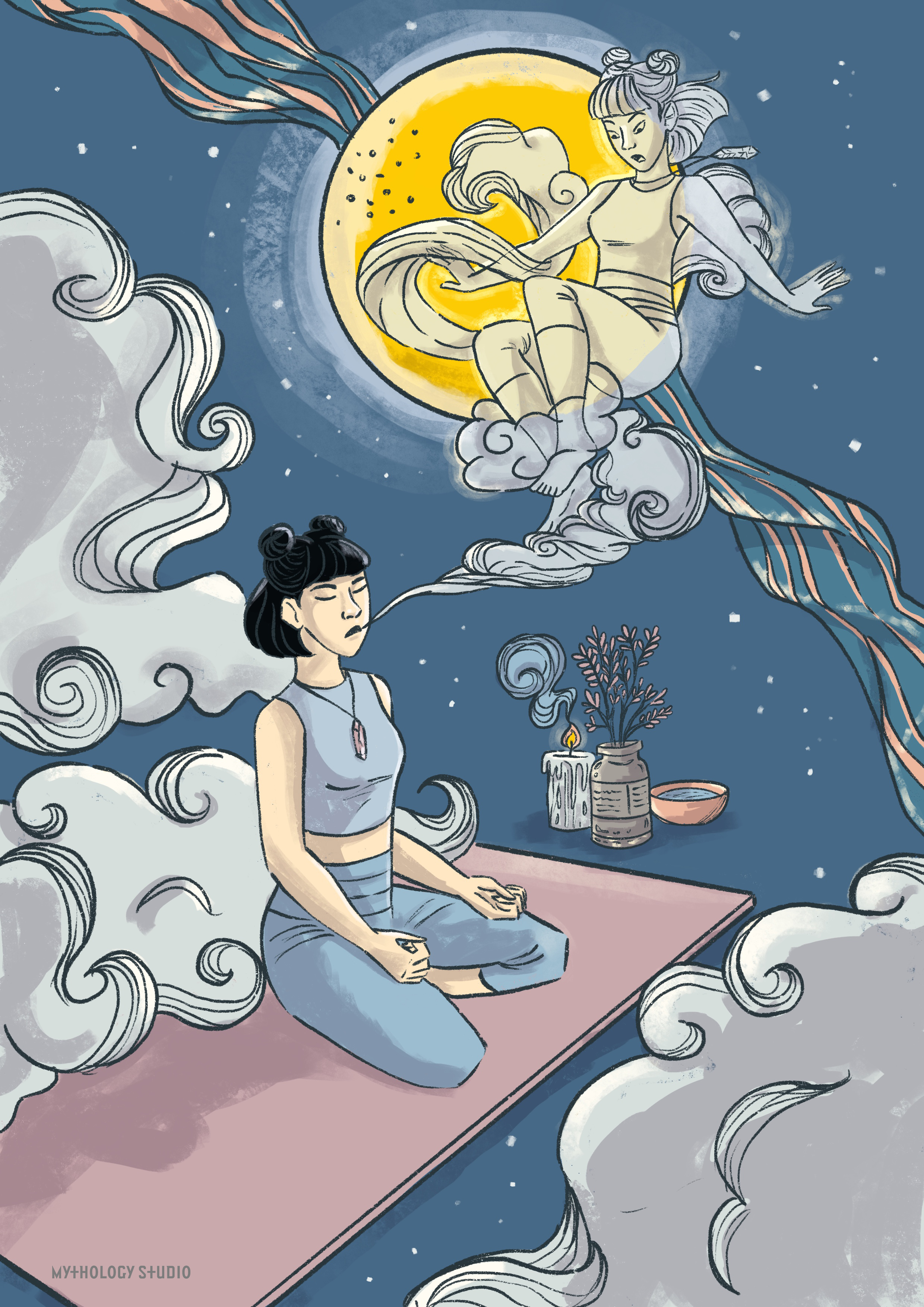 Sky Goddess Meditation Card