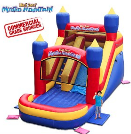 Mystic Mountain      (2 Available)  - Ages: All Ages15'H x 12'W x 22''LMax Weight: 250 Per Person *This jumper can be wet or dry use*