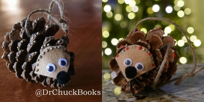 Click here for a fun DIY Hedgehog Pinecone Ornament Craft! (Opens in new window)