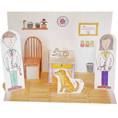 Click Here for Free Printable Pop Up Veterinary Clinic Playset!