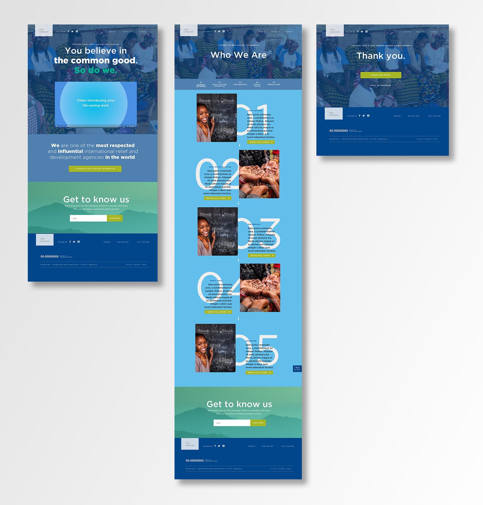UI Design for NGO Microsite
