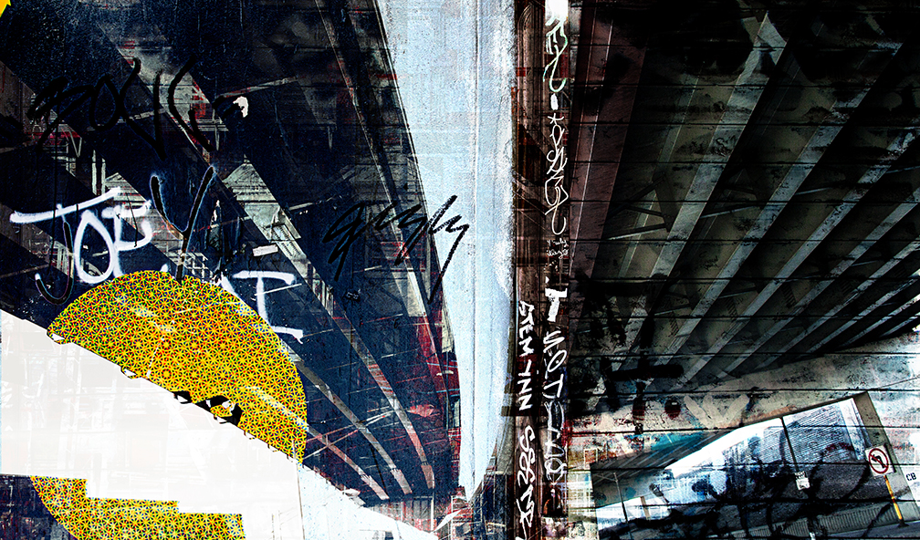 "Nick Haas - Under the Overpass 46"" x 27"""