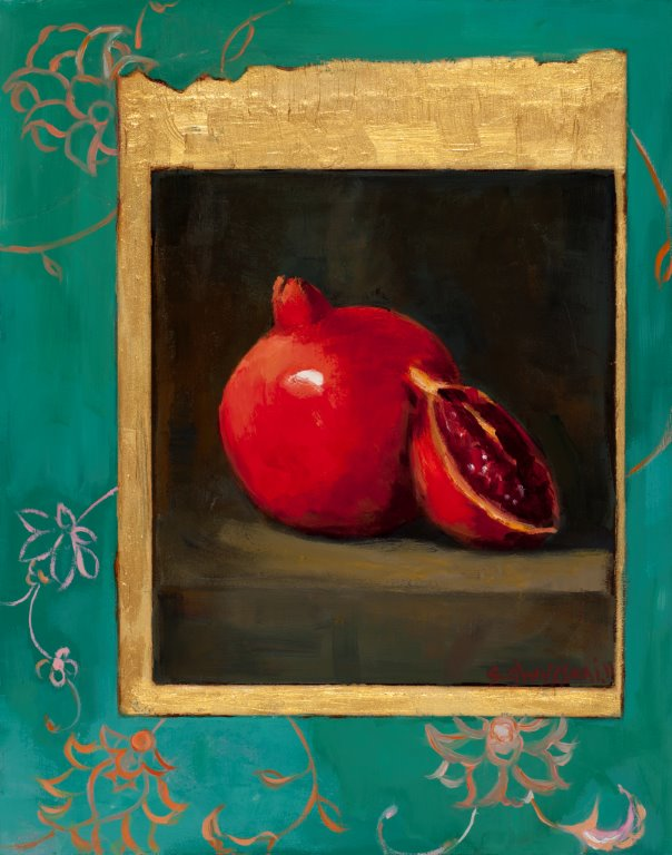 Pomegranate, 14x11