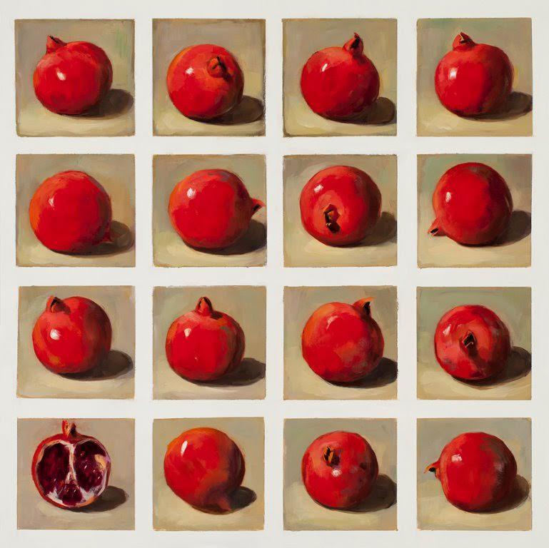 16 Pomegranates, 24x24