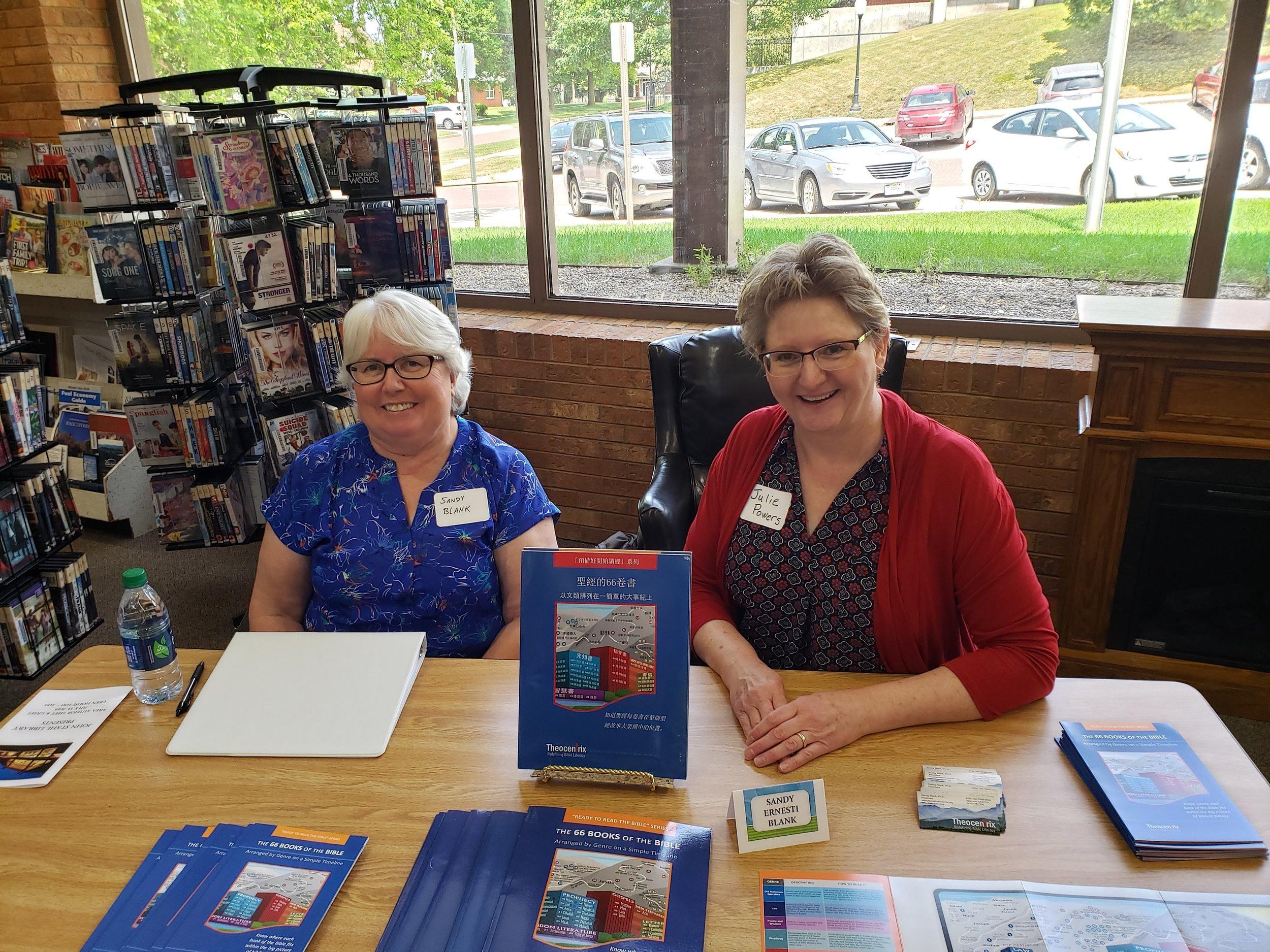 Authors Sandy (Ernesti) Blank and Julie Powers