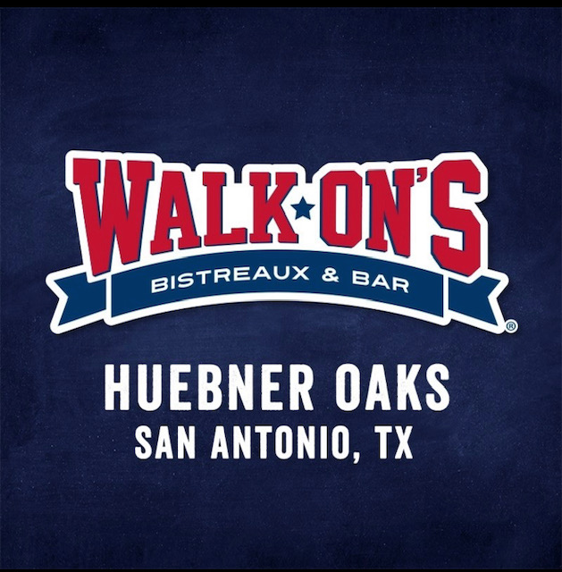 Walk-On's Huebner Oaks Address:  11075 IH 10 W, Bldg 2, Suite 200, San Antonio, TX 78230  Phone:  (210) 455-6644  Web:   https://walk-ons.com/