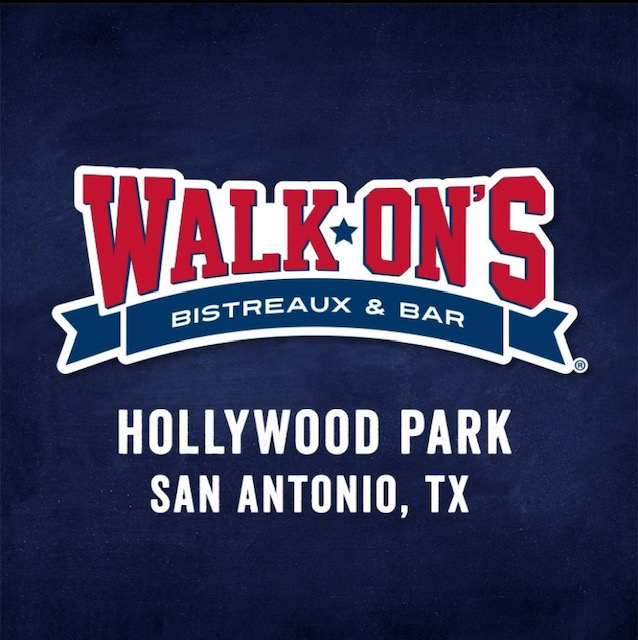 Walk-On's Hollywood Park Address:  1400 Pantheon Way, San Antonio, TX 78232  Phone:  (210) 451-0563  Web:   https://walk-ons.com/