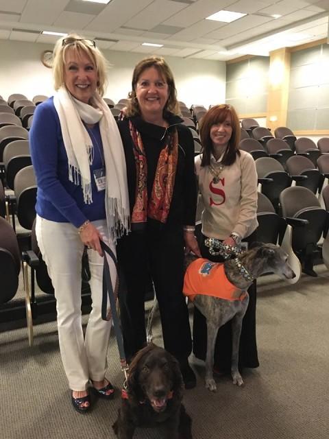 Roxy Reading Therapy Dog President Diane Smith, VIA President Linda McIlhinney, and RRTD Director of Schools Sharon Fleck.