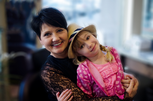 Cyndi and her granddaughter, Lily Grace.