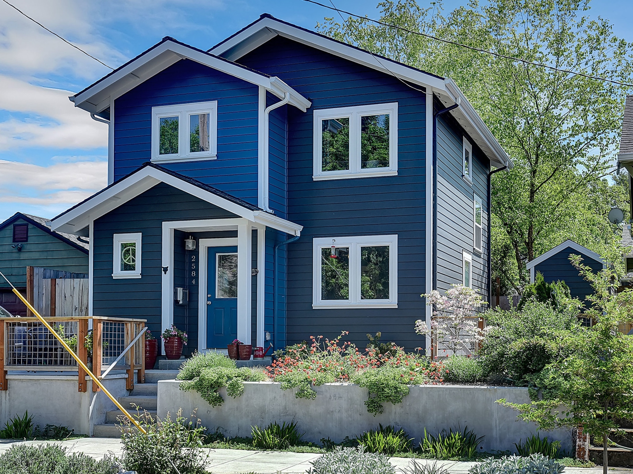 Overlook neighborhood. 2 bedrooms, 2 baths. Tons of storage. Featured in the 2019 ADU Tour on June 22 in Portland, OR. https://accessorydwellings.org/adu_tour/