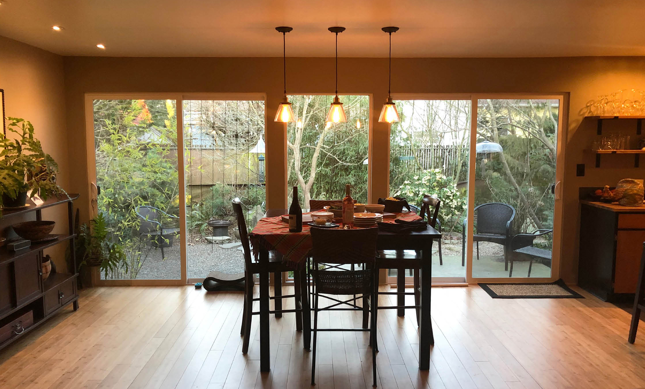 We eliminated a bedroom and created an expansive Dining Room.