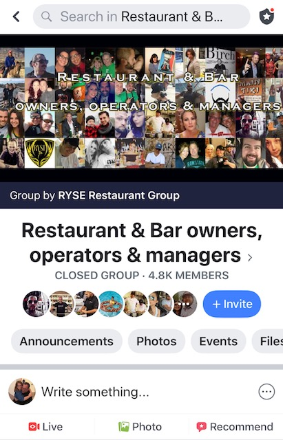 Facebook Groups like Restaurant & Bar owners, operators & managers:  https://www.facebook.com/groups/186494045169202/?ref=group_browse