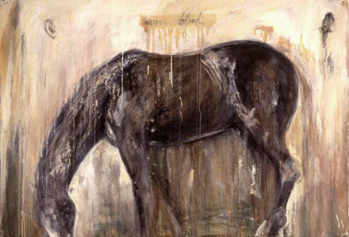 """""""Rio,"""" 1998 Walnut ink, casein and charcoal on paper 42"""" x 60"""""""