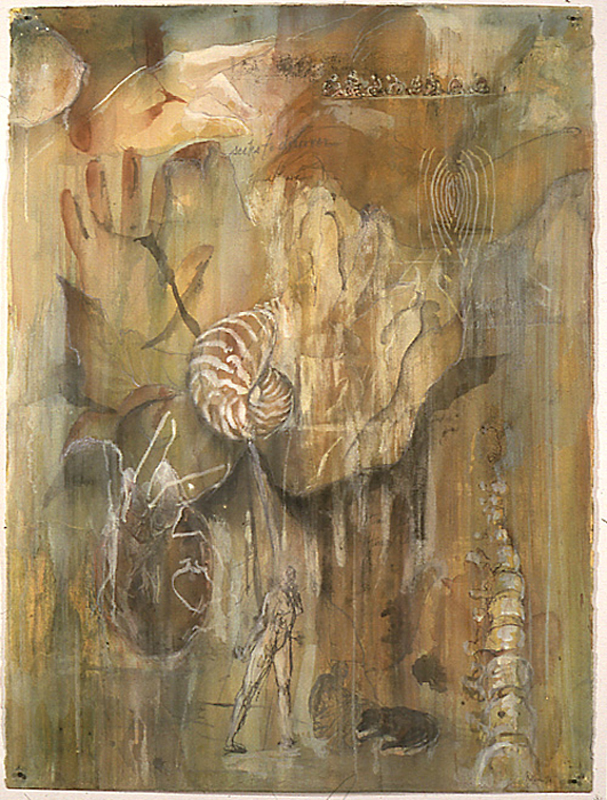 """""""What is Jane"""", 1998 Casein and ink on paper 30"""" x 22"""""""
