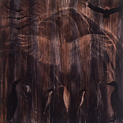 """Doro's Mountain"", 1992 Mixed media on wood 48"" x 48"""
