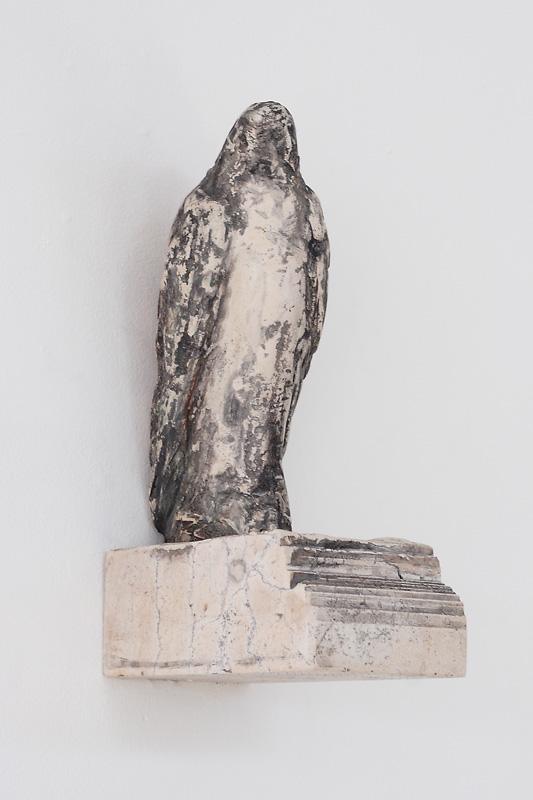 """Sebastian's Bird,"" 2009 Limestone, marble mix, and pigment 13 x 7.25 x 4.25 inches"