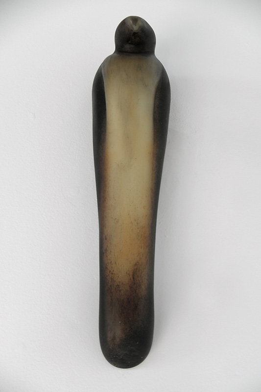 """Ferd's Bird,"" 2010 Hand blown pigmented glass Gaffer: Ferdinand Theriot & Guido Gerlitz 16 x 4 x 4"
