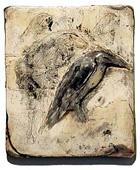 """Heron/Horse,"" 2004 Mixed media 11 x 10 x 1 inches"